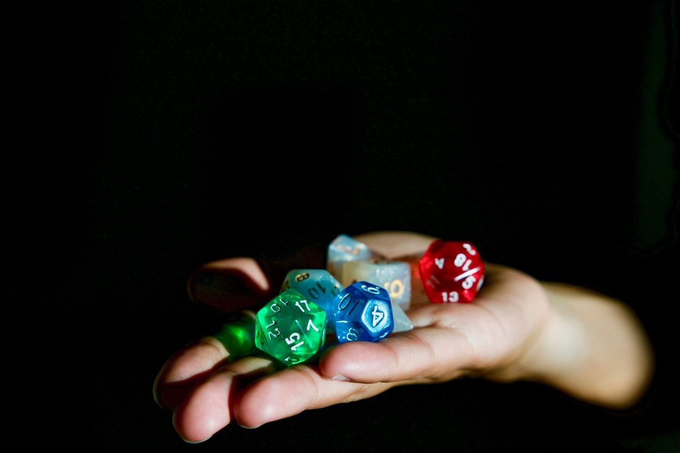 Dungeons and dragons dice for gamers player folks