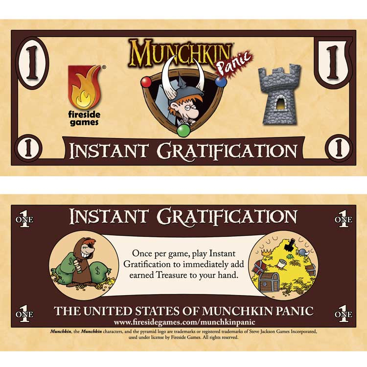 ADHD and gamer Munchkin instant gratification card game