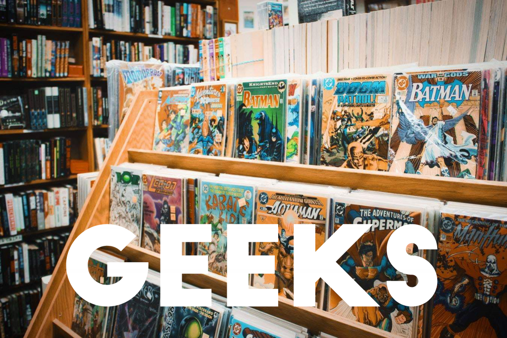 Geek considerations in therapy; graphic novel store